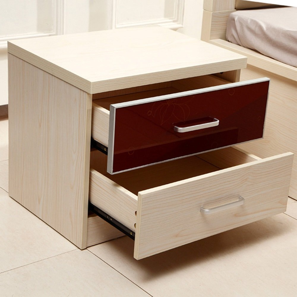 AiHerb.LT nightstand Solid Wood Bedroom Furniture Bedside Cabinet Bedside Cabinet Bedside Cabinet Storage Bedside Table (Color : A)