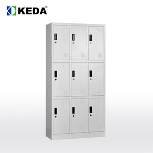 high quality cheap 9 door blue color metal steel used school locker for sale