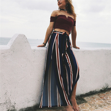 Latest <strong>design</strong> Loose <strong>Pants</strong> <strong>Women</strong> Tailored Striped Wide Leg <strong>Trousers</strong> Loose Long Culottes <strong>For</strong> <strong>Women</strong>