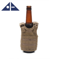 Tactical Premium Beer Military Molle Mini Miniature Vests Adjustable Shoulder Straps Wine Cooler Bag Glass Bottle With Sleeve