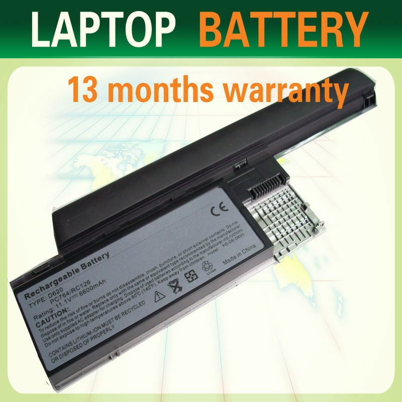 backup battery compatible For Dell Latitude D620 D631 D630 baterai laptop