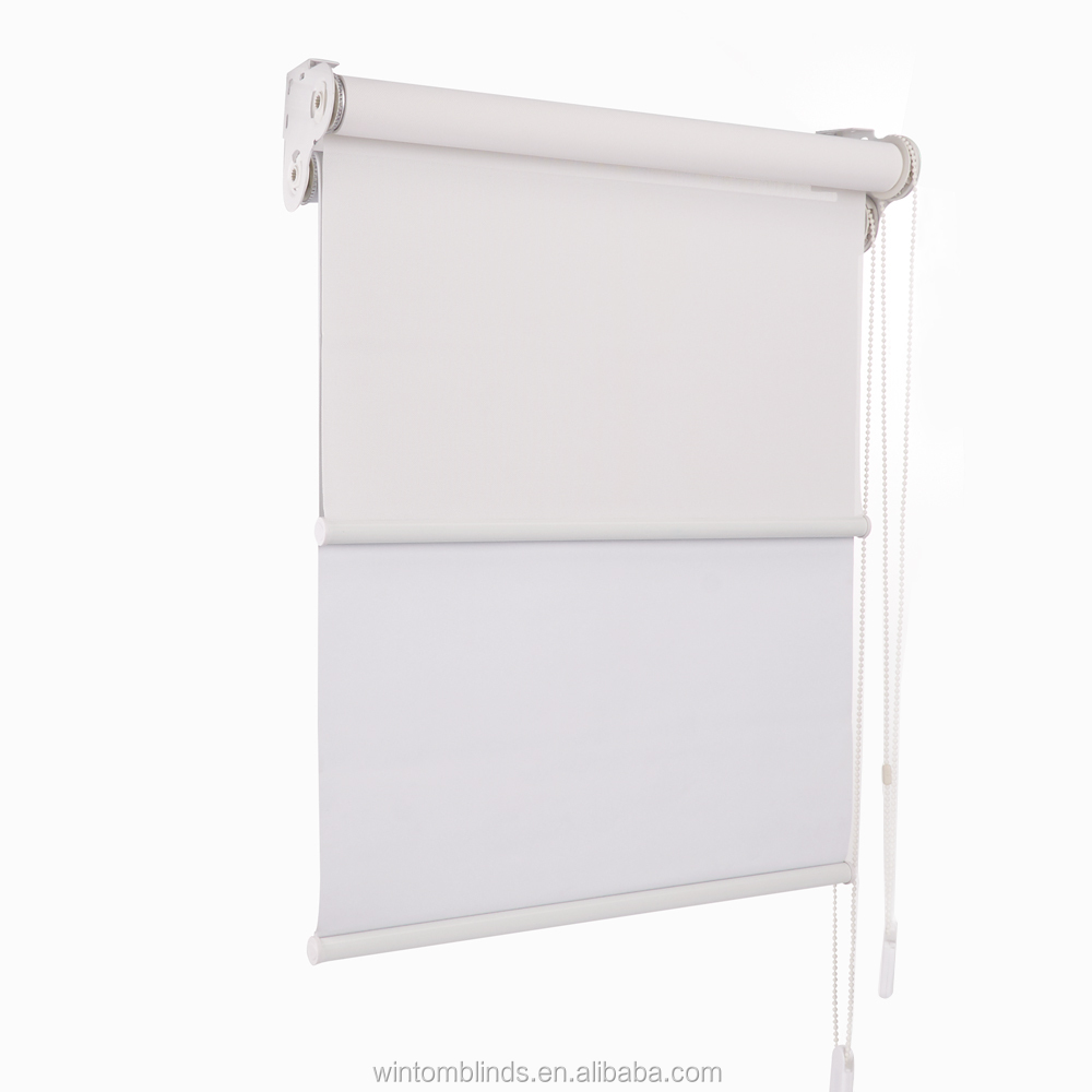 Day and Night Manual Blackout Window blinds Dual Roller Blinds