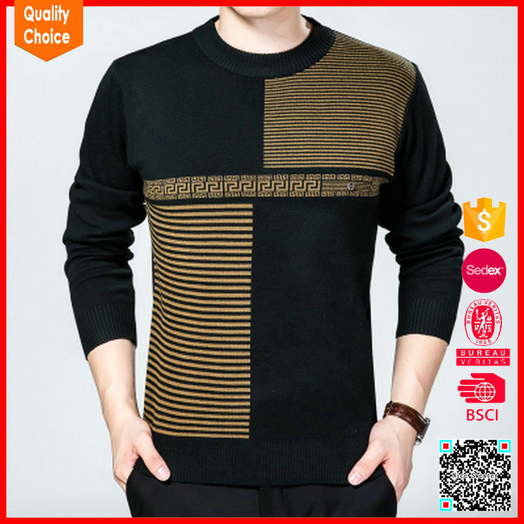 Para hombre cuello en v patrón de tejer suéteres de lana de alpaca ...