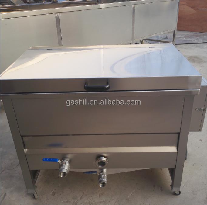 Hot selling low cost semi-automatic potato chips processing machine / potato chips fryer