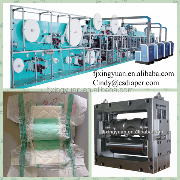 pampers making machine for diaper