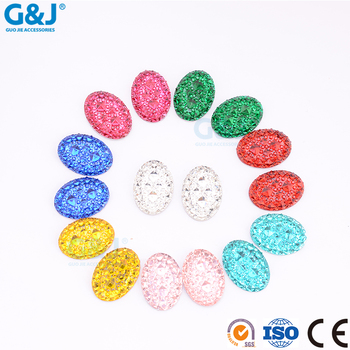 guojie brand Hot selling wholesale price Crystal Oval Shape Resin Stone For Jewelry Making