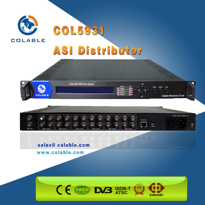 6 groups TS out Distributor / Distributor/ ASI & TS distributor ,ts streamer COL5931
