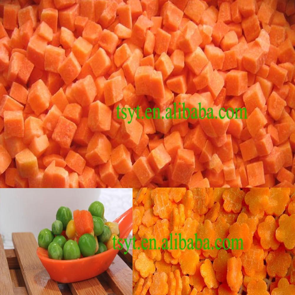 Wholesale Bulk Iqf Frozen Carrot Diced Dice Dices