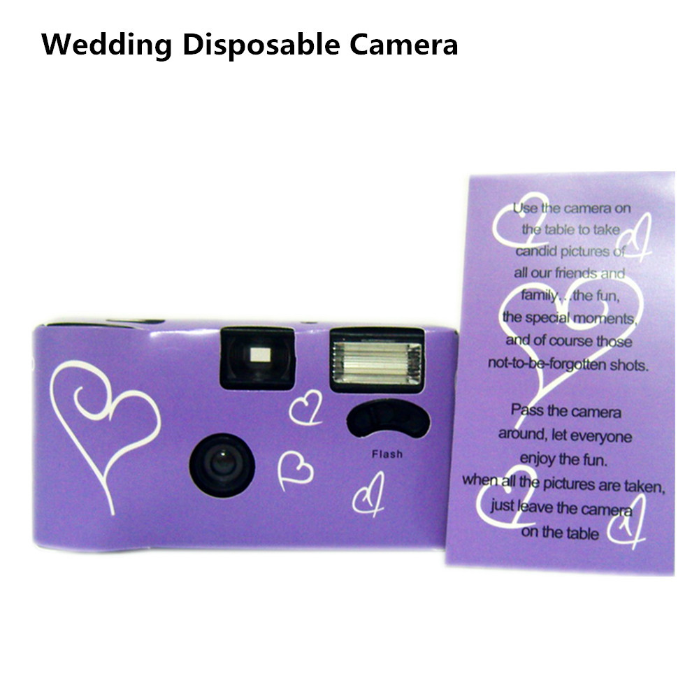 personnalis appareil photo de mariage jetable avec flash et pile alcaline pr charge 35 mm - Appareil Photo Jetable Mariage Pas Cher