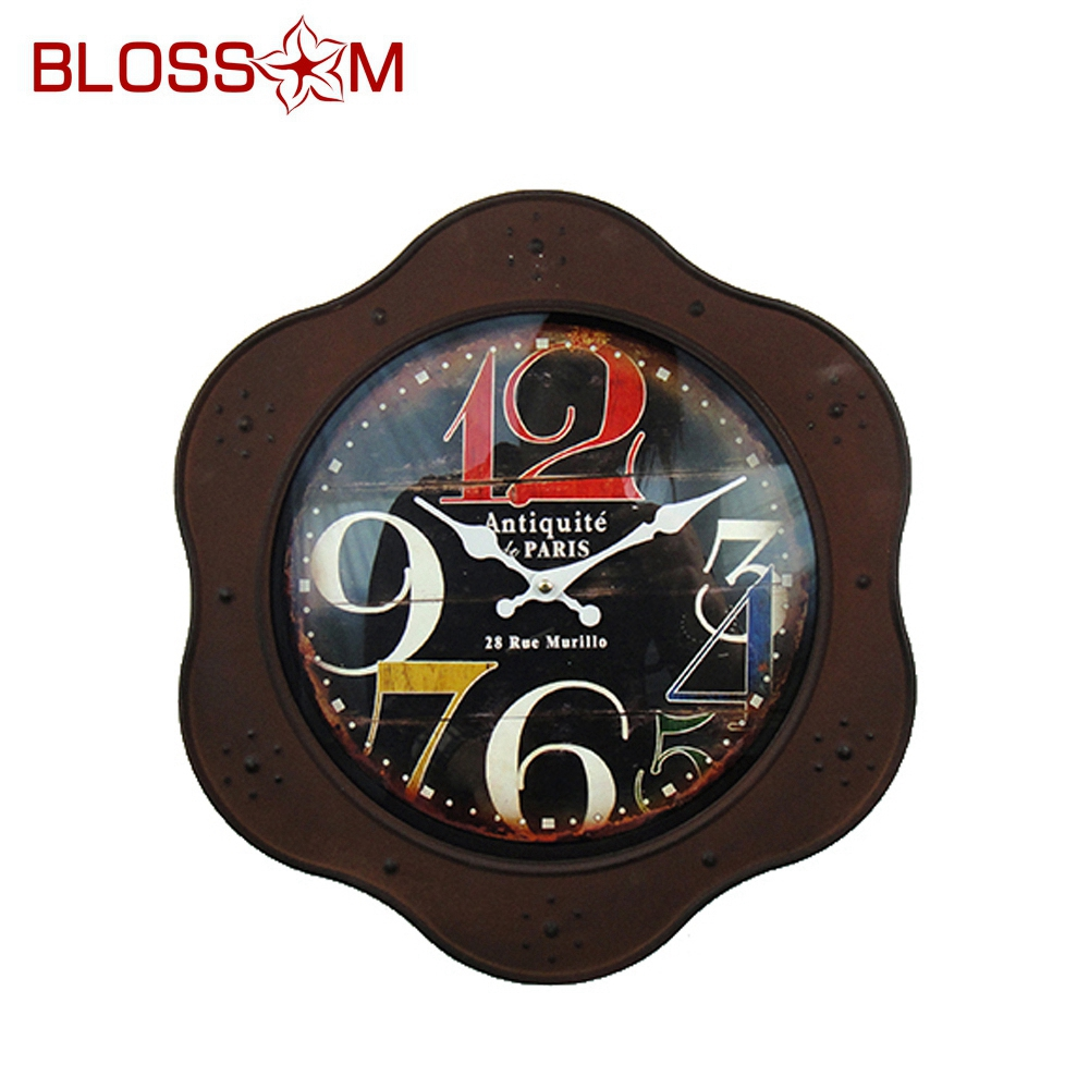 MDF Wall Clock Collection With Iron Taiwan YOUNG TOWN movement