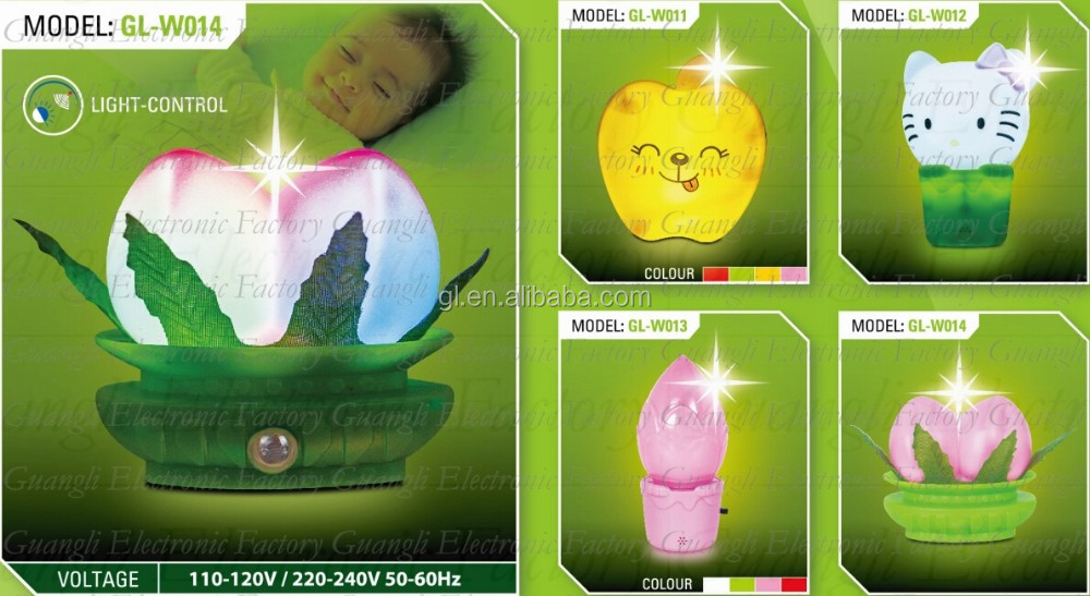 W117 Optical mouse  computer  lamp switch plug in led night light For Baby Bedroom child gift