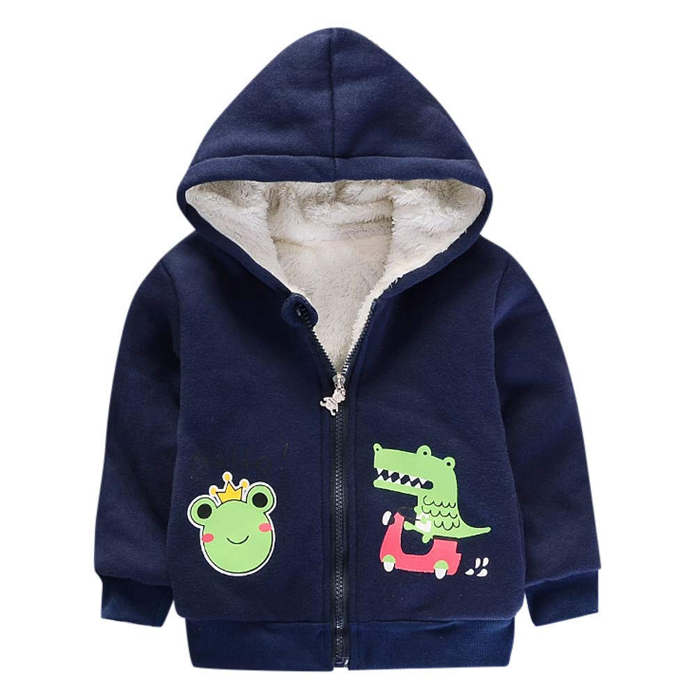 FEITONG Baby Infant Girls Fur Winter Warm Coat Cloak Jacket Thick Warm Clothes 24Months, Blue