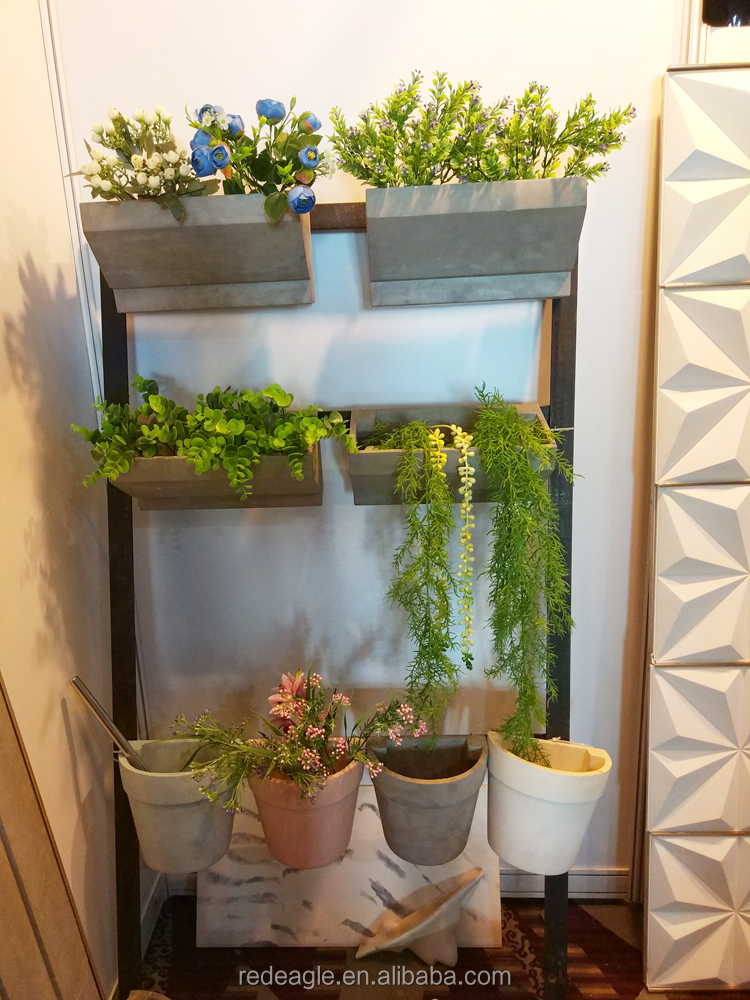 Concrete Wall Mounted Flower Pot