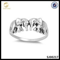 Custom sterling silver jewelry,elephant ring,midi ring platinum plated