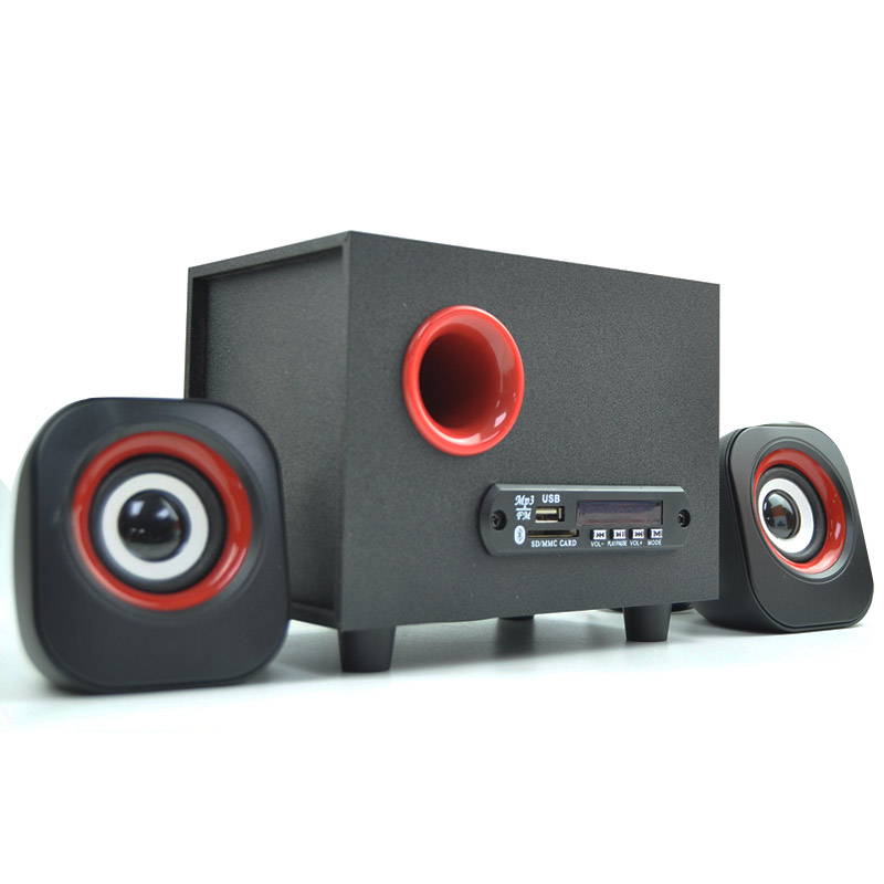 wooden Multimedia Speaker 2.1 <strong>portable</strong> surround sound speakers