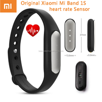 2016 Original Xiaomi Mi Band 1S Smart Xiaomi Miband Heart Rate Monitor Pulse 1S Fitness IP67 Bracelet For Android/IOS