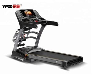 Home Used Folding flat Motorized Treadmill with massager and twister