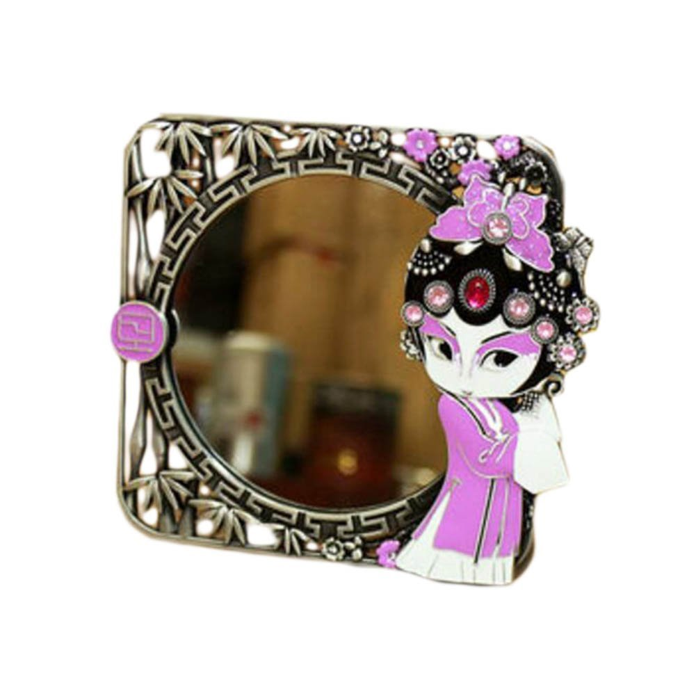 Chinese Style Beijing Opera Make Up Cosmetic Mirror Creative Ornament Mirror-A01