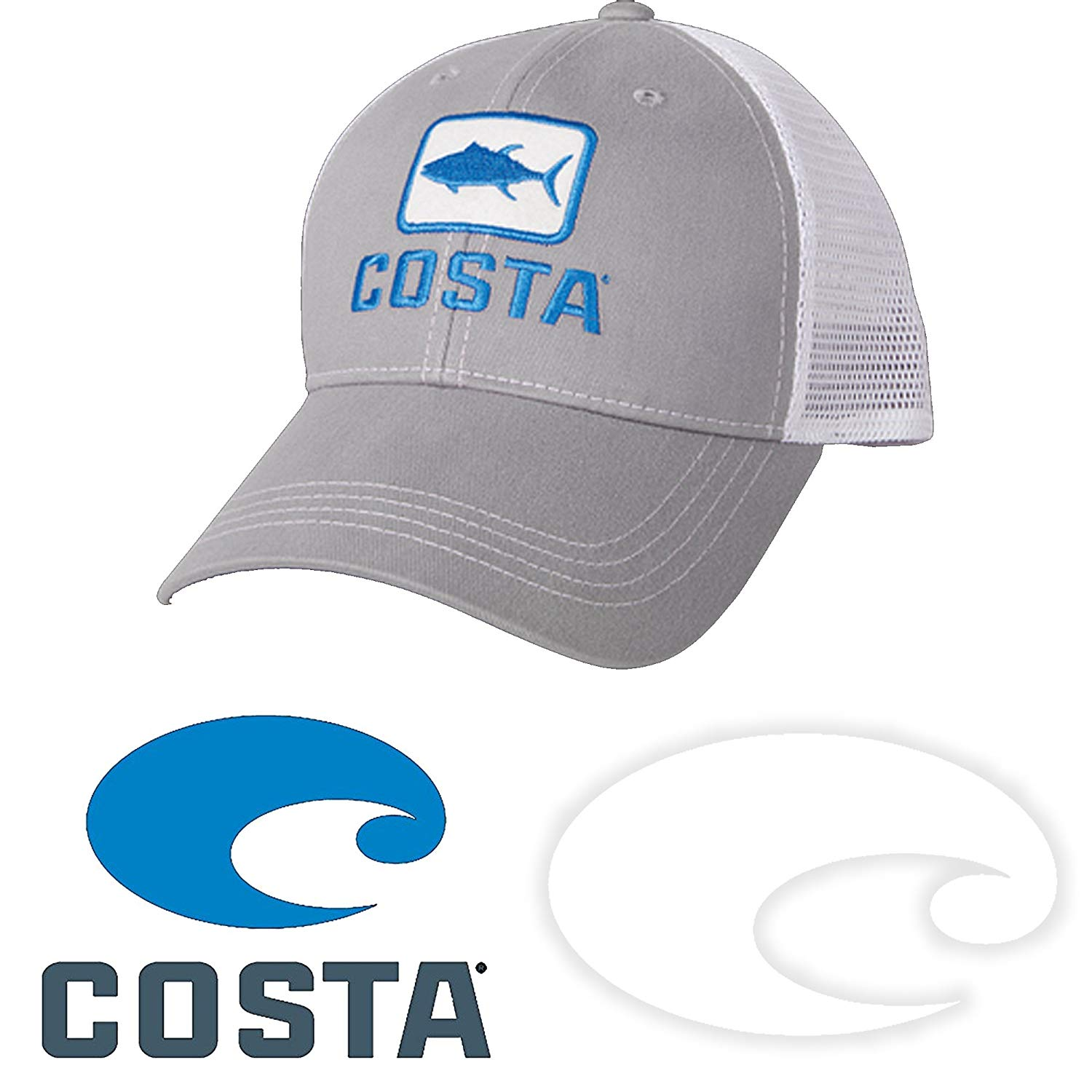 9baf26fac6 ... promo code for get quotations costa del mar tuna trucker hat and costa  decal stickers pack