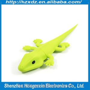 Cheapest promotion Silicone animal 8GB usb flash pen drive,usb pen driver 8gb Lizard