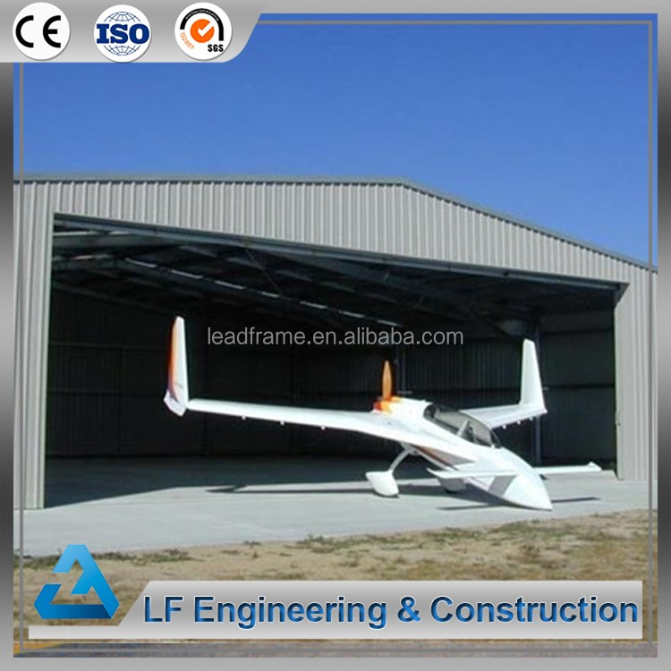 Antirust paint steel structure prefabricated aircraft hangar