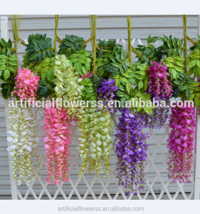 China factory import silk flowers of artificial wisteria flower wholesale silk flowers for wedding