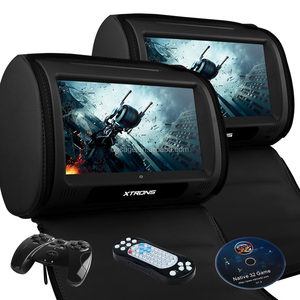 "9"" HD TFT Screen Leather car dvd player headrest cover support native 32 games, taxi headrest advertising, car headrest monitor"