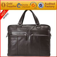 wholesale trendy conference formal italian decent real leather men lawyer hand bags made in China