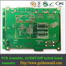 Good quality pcb manufacturer europe yellow color solder mask pcb