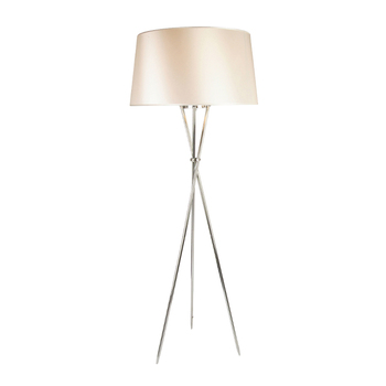 Home decoration standing lamp European Contemporary chrome tripod floor lamp for hotel