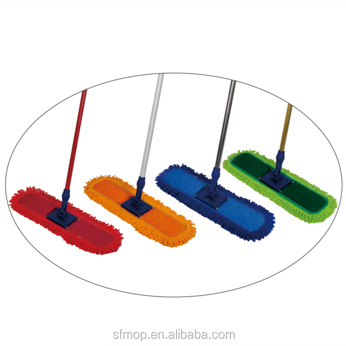 Microfiber Mop head Material and Aluminum Pole With new design household cleaning dust mop