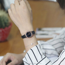 Hot Sell Girl Fashion Latest Leather Quartz Wrist Watch