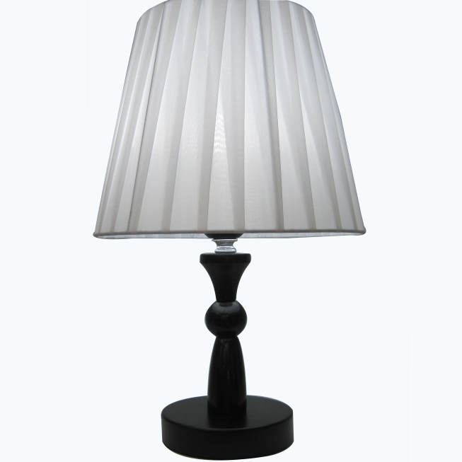 Livraison gratuite blanc abat jour en tissu cor en style - Lampe de table bois ...
