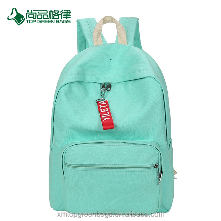 China customize simple wholesale multi-pocket waterproof canvas travel day backpack