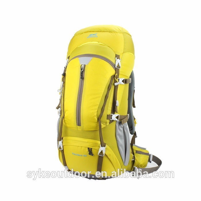 50l nylon waterproof custom made backpack for multi day hiking camping travel