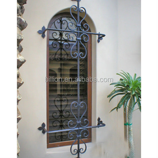 Wrought Iron Security Grills For Windows Design Product On Alibaba