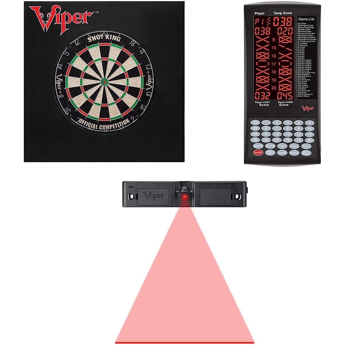 Viper Shot King SISAL Dartboard, PROSCORE Scoreboard, Defender II Backboard