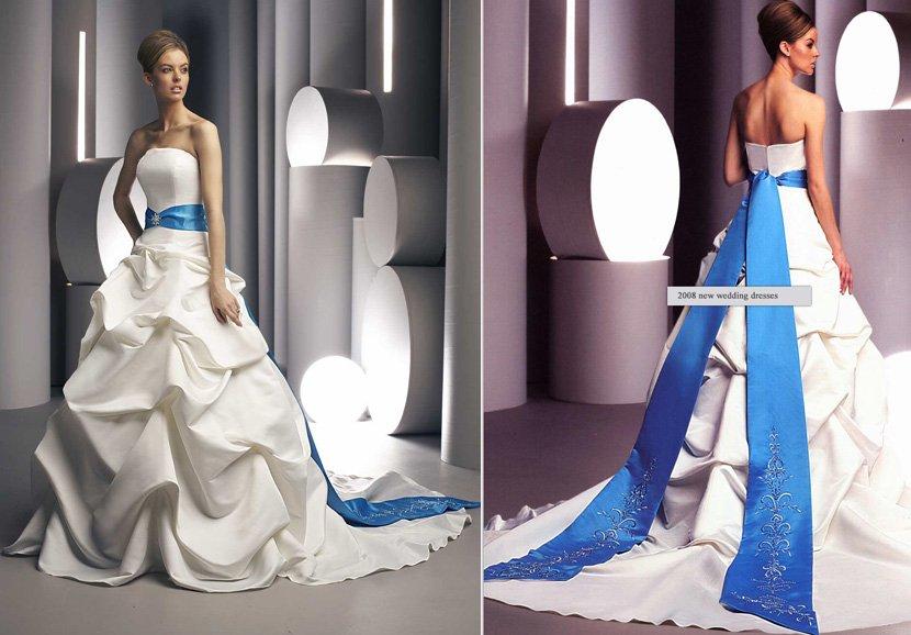Freeshipping Hot Sale Elegant Princess Strapless White
