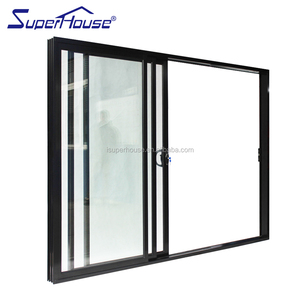 superhouse australia AS2047 standard double glass matt black aluminum sliding garage door