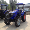 blue color 50hp 4x4 farm wheel tractor with 12+12 shuttle shift