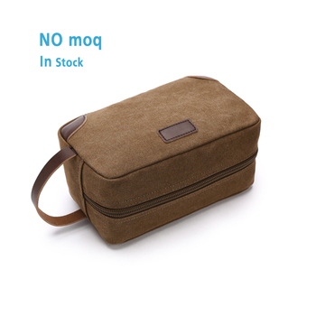 16 OZ washed canvas travel toiletry bag lady pouch classical men and women blank cosmetic bag