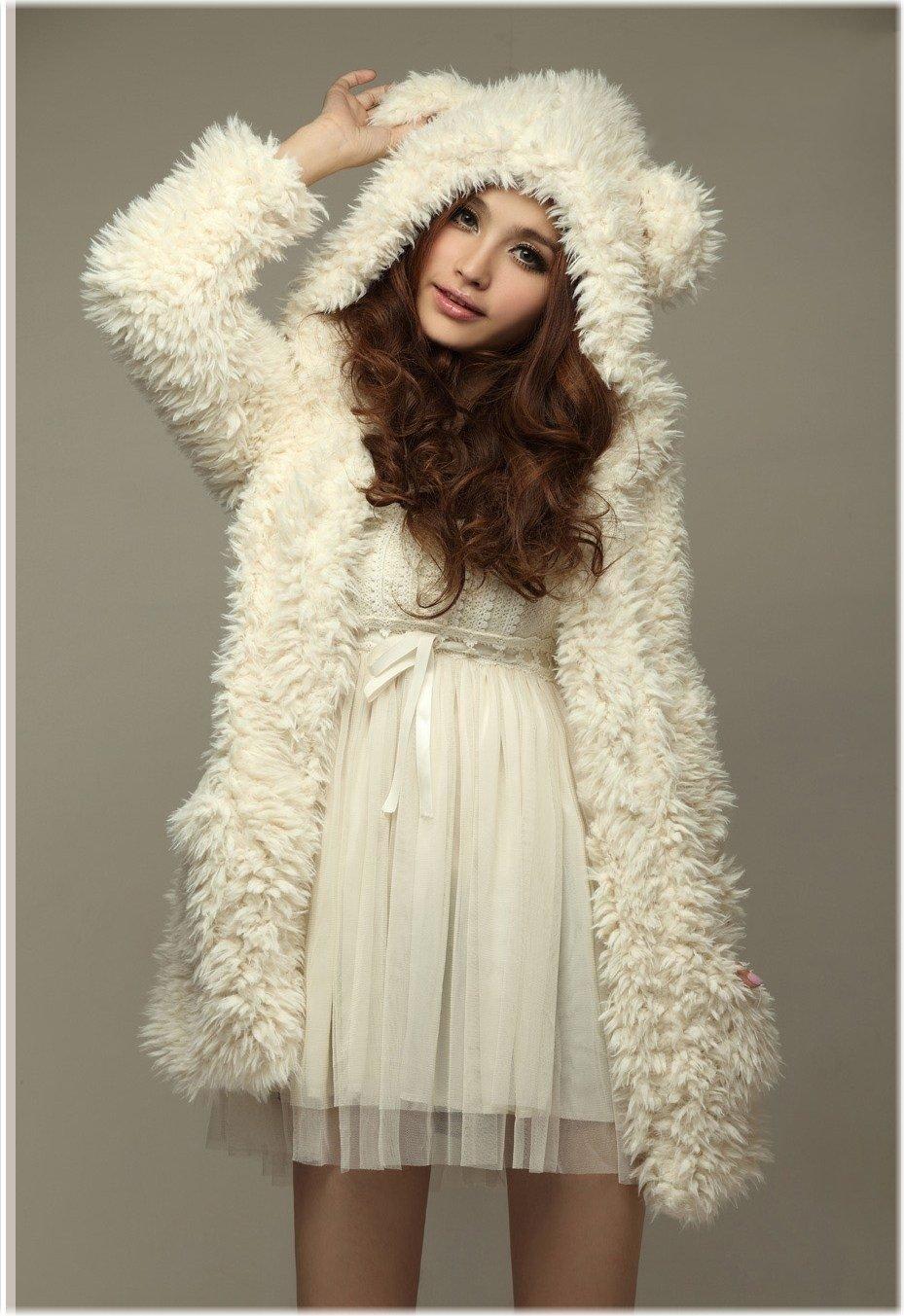 Compra orejas de oso blanco online al por mayor de China