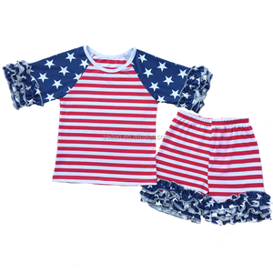 4th of July Patriotic Baby Clothing Set Patriotic Festival Summer Clothing Sets