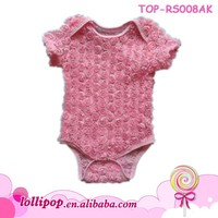 2017 New Fashion Cheap Price - Baby Girls Comfy Jacquard To Mesh Hipster Romper - Stylish Knit Rose Bud Bodysuit