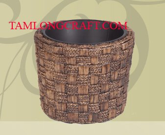 WATER HYACINTH VASE/ TRAY TCC-BK14