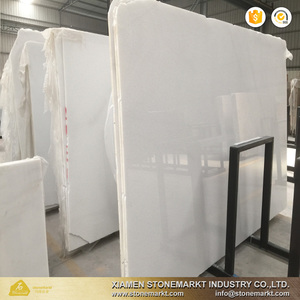 StoneMarkt Cheap Pure crystal white Vietnam marble slabs price for flooring
