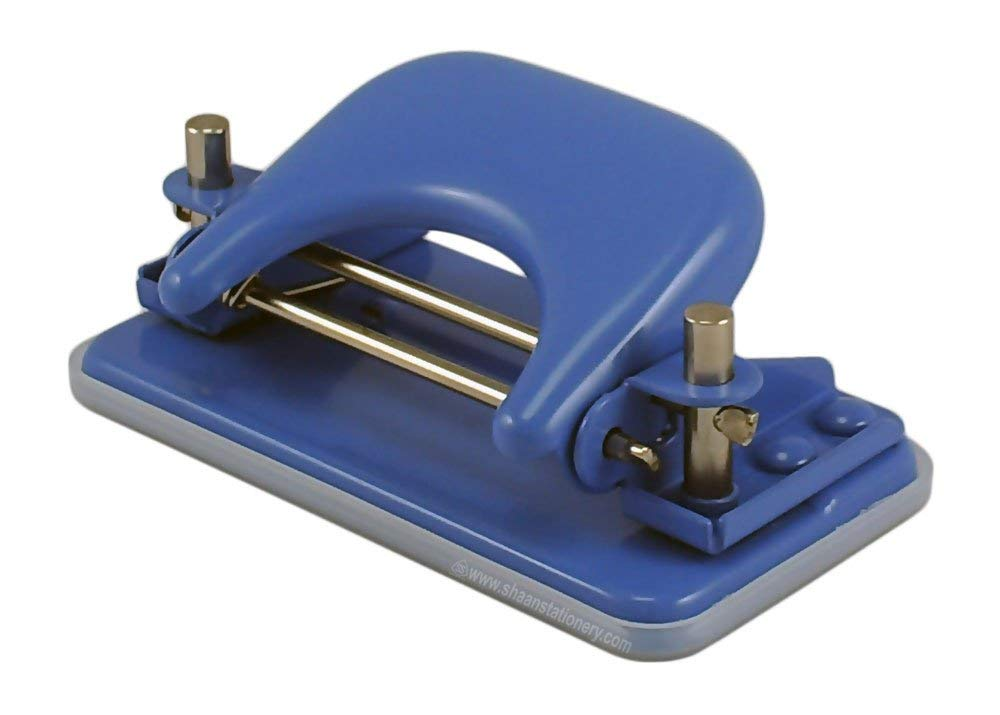 Paper Punch Set of 1 (1 Quantity),Paper Punch Office mate 2 Hole Punch, 2 Hole Mini Paper Punch, Mini Paper Punch,Size Medium,Color-Blue