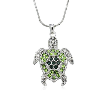 Wholesale yiuw factory direct sale alloy crystal stone turtle wholesale yiuw factory direct sale alloy crystal stone turtle pendants snake chain necklaces for women aloadofball Gallery