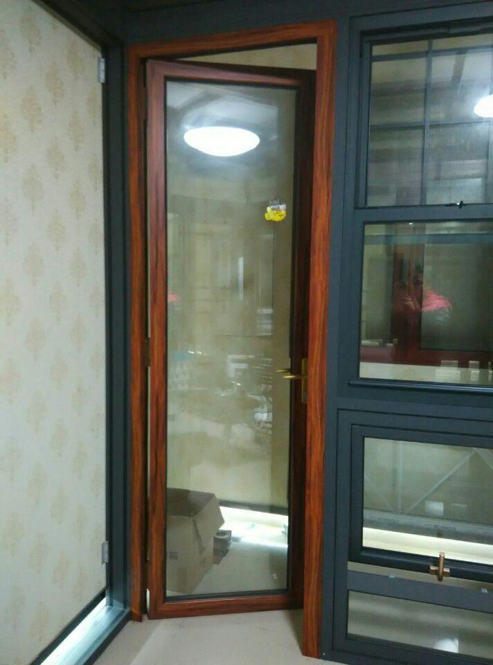 Decorative Bathroom Doors : Champagne color decorative bathroom doors aluminum design