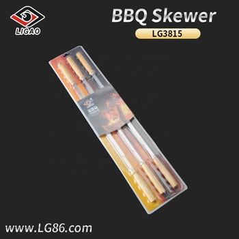 6pcs New-designed skewer for bbq with double blister card